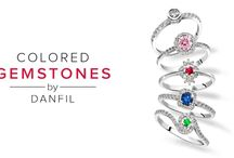 Colored Gemstones by Danfil / Collection of jewels with colored gemstones. Sapphires, Emeralds, Rubies with Diamonds
