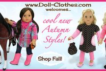 """Outfits that fit 18"""" american girl dolls"""