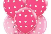 party - Pink polka dot