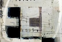 art: collage, mostly neutrals / by Lana Housewright