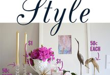 Clever Shopper  / Tips for economical decorating at home