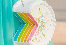 Rainbow Cake BAGS / PURSES