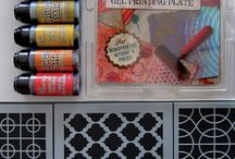 Gelli printing / Ideas for using your gelli plate