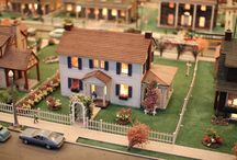 miniature village made of paper