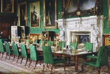 Georgian Dining Rooms / Dinner rooms, also called dining rooms and eating rooms, of Georgian England.