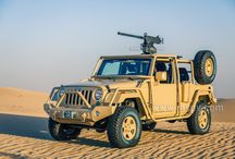 Armoured Desert Jeep Wrangler / Many countries of Military use MSPV Armoured Desert Jeep Wrangler Vehicles to move over rough terrains, withstand shootings and keep large crowds under control. Desert Jeep Wrangler fills a number of military roles, including that of armoured Infantry Mobility Vehicle.