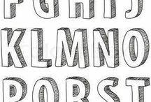 alfabeto hand lettering