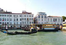 Cities in Italy - Venice - Gondolas / The unique and beautiful boat of Venice.