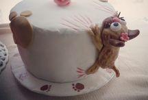 homemade sugarpaste cake