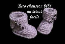 Chaussons pour bébés en tricot