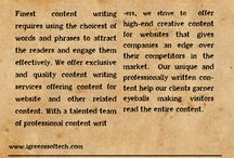 Content Writing / Content Writing