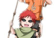 Gaara and Naruto