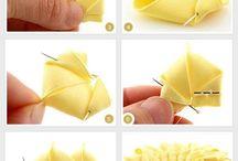 create flower fabric origami