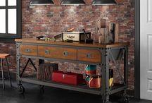 Industrial metal furniture