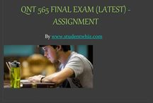 QNT 565 Final Exam