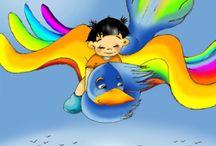 Tres Vuelos - Adopción Internacional / Una historia tierna y mágica para explicar a todos los hijos de una adopción internacional el porqué de su adopción, el inmenso amor que sus padres sienten por ellos y la llegada a su hogar. A través de un viaje fantástico a lomos de un pájaro, de una cometa y, finalmente, de un avión, el protagonista de la historia conocerá el bosque de los pajaritos caídos del nido y podrá encontrarse con sus padres para viajar con ellos a su casa.