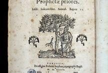"""Prophetae priores : Iosue. Iudicum liber. Samuel. Regum II. Parisiis... [CM-849] / Aquest volum és una part de la Bíblia hebrea que Robert Estienne va imprimir a Paris entre 1539 i 1544. Aquesta bíblia es va publicar en 24 parts, cadascuna amb el seu títol i va ser posat a la venda en peces. La Bíblia hebrea d'Estienne és qualificada d'excel·lent per la seva bellesa i raresa com """"joia tipogràfica"""" i la primera edició completa de les Escriptures Hebrees impreses a França."""