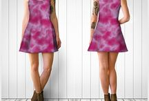 Flare Dresses / A selection of flare dresses featuring my artworks
