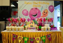 Izzy 2nd Bday  barney theme / by Idalia Iniguez