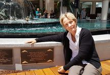 Dolphin Fountain 17.11.16 / The re-opening of the Pacific Family Dolphin Fountain at Westfield Warringah Mall. A memorial plaque for my father is on it as he was GM there for 25 years from 1968 to 1991. Very special to me