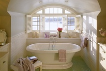 Best Baths / The bath - one of the two most expensive rooms in the house. It can be functional or over-the-top, but either way, it's a fun room to design! / by Sarah Nahass