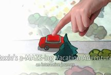 """App trailers / Trailers for a couple of my apps: """"Roxie's a-MAZE-ing Vacation Adventure"""" and """"Roxie's Doors"""""""