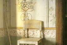 Gammal dekorationsmålning