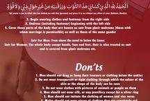 islamic do's & don'ts
