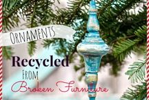 Christmas | 2021 Shabby Chic / Pink, white, rose gold, chippy,