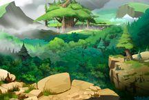 ilustrasi land