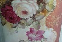 Posliininmaalaus: ruusut 2