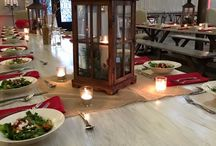 Holiday Party / Our very first Holiday Party in The Peyton! There is nothing better than a natural and rustic party theme!  Catering - Impressions Catering