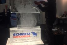 LIVE Ice Carving -TCS&D Exhibition : Schmitz Cargo Bull (UK) LTD / Great images from the LlVE ice carvings that took place last week at the Temperature Controlled Storage and Distribution (TCS&D) Exhibition at Peterborough Arena.  Managing Director of Schmitz Cargo Bull (UK) LTD feedback was as follows:  'Just wanted to drop you a quick note to thank you for the fantastic service your company has provided. Mat did an absolutely spectacular job which drew so many people to our stand at the exhibition, making the Ice Elephants the real stars of the show'