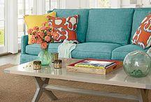 Aqua sofas