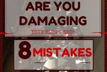 Blogging Mistakes / Articles containing blogging mistakes bloggers should avoid making