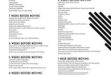 Let's Get Moving! / Moving involves so much, we know! Don't fret, we've made life a little easier for you with these handy-dandy checklists.
