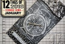 12 tags 2016 / by Tim Holtz