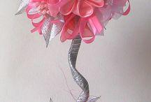 kvety z mašiel v črepniku