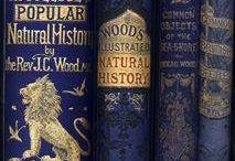 BRILLIANT BLUE VINTAGE BOOKS.