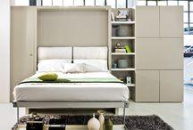 Fold back bed unit
