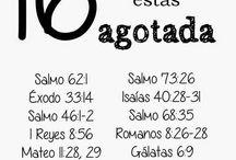 16 versículos para cuando se está agotada