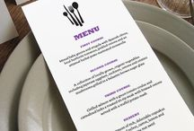 Printable Wedding Menu Templates / DIY editable menu templates for weddings (or any other occasion!) Just enter your text, print and cut!