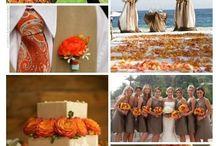 Orange & tan wedding