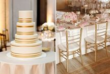 Go For The GOLD! ~Gold Wedding Theme Ideas / From cakes to candles these gold inspired weddings and receptions will put this color on your list.