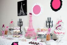 Parisian party/Pink party / by Nanett Fisher