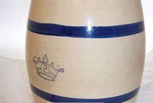 Stoneware Crockery Salt glazed, Brown slip