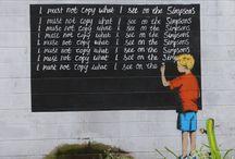 Street art and graffiti / Street art, graffiti and guerilla art