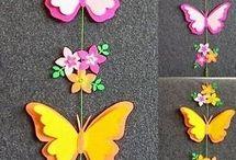 Flores mariposas
