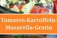Tomate Kartoffel Mozzarella Gratin