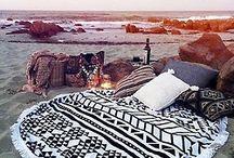 boho hippie at the beach